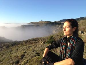 Soaking up the sun after a foggy hike at Pt. Reyes